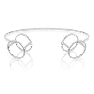 Adoriana Silver Circle Cuff Bracelet