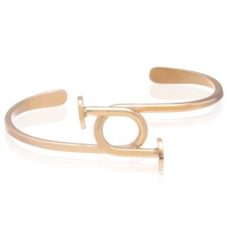 Adoriana Gold Over Brass Nail Bangle Bracelet