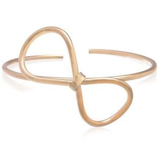 Adoriana Gold Over Brass Bow Bangle Bracelet
