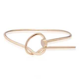 Adoriana Gold Over Brass Love Knot Bangle Bracelet