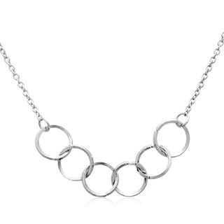 Adoriana Silver 5-ring Necklace