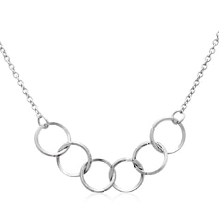 Adoriana Silver Over Brass 5-ring Necklace