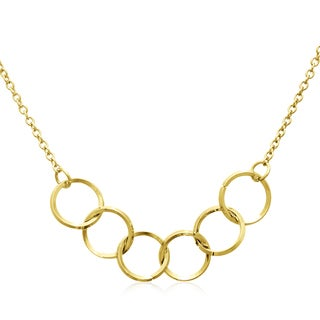 Adoriana Yellow Gold Over Brass 5-ring Necklace