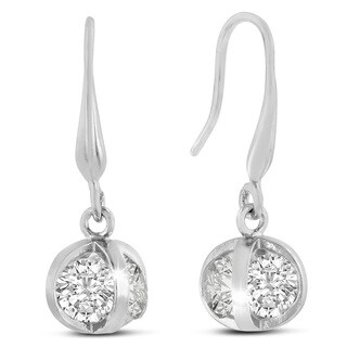 Adoriana Silver Basket Dangle Earrings