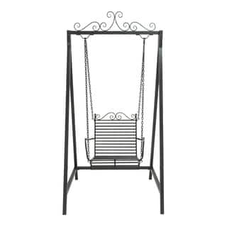 Black Metal Swing Chair|https://ak1.ostkcdn.com/images/products/10207223/P17330115.jpg?impolicy=medium