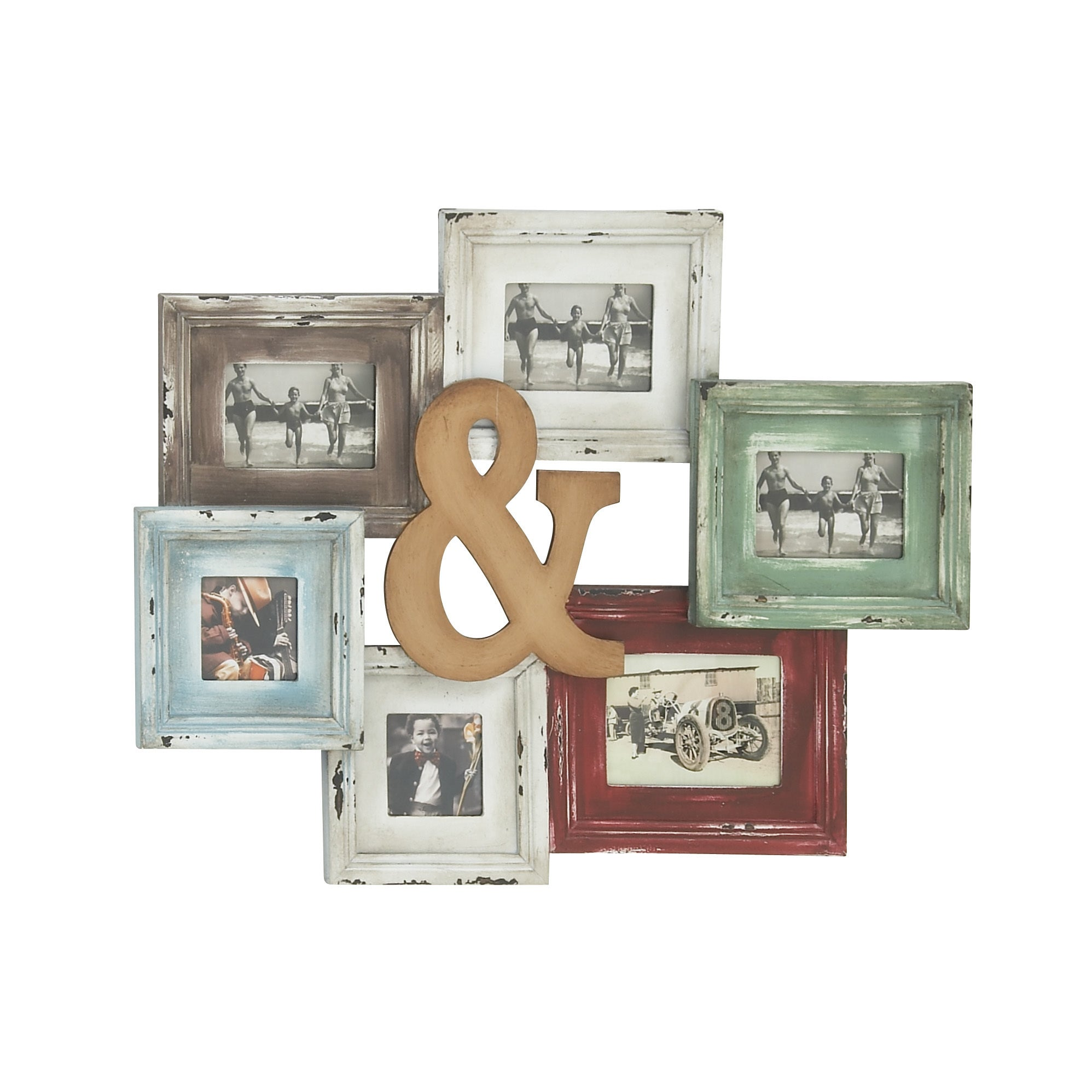 Shop Wood Photo Collage Frame - Free Shipping On Orders Over $45 ...