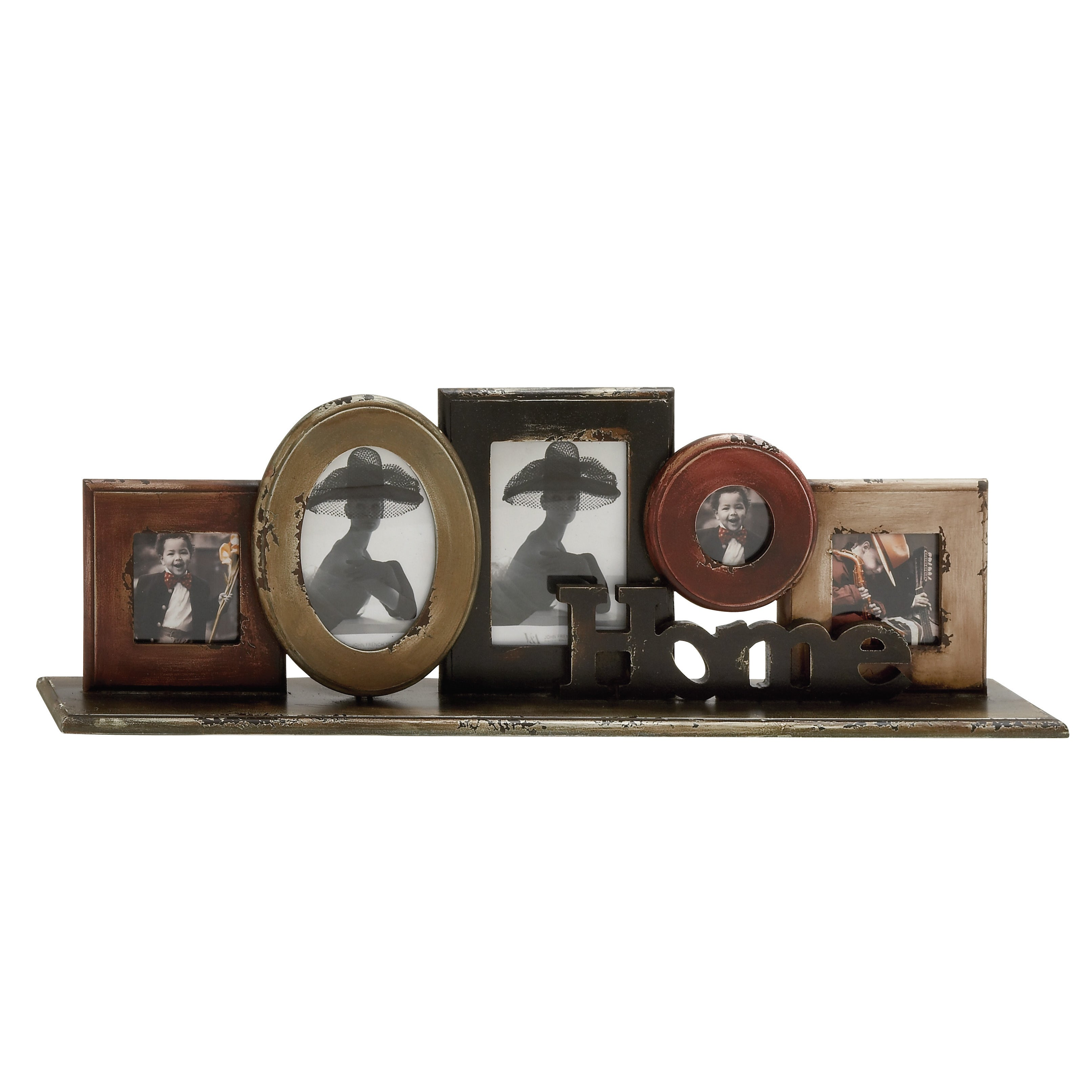 Shop Wood Tabletop Collage Photo Frame - Free Shipping On Orders ...