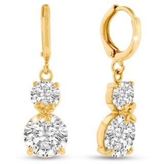 Adoriana Yellow Gold Double Hoop Earrings