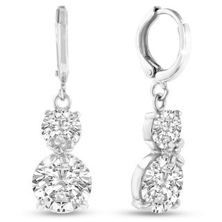 Adoriana Silver Double Hoop Earrings