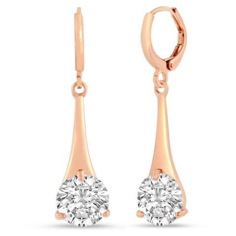 Adoriana Rose Gold Over Brass Elegant Drop Earrings