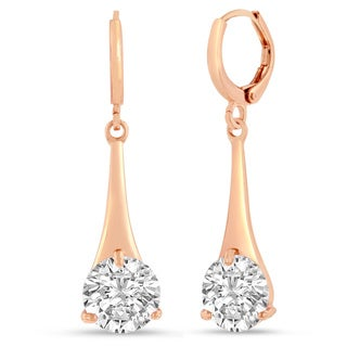 Adoriana Rose Gold Over Brass Elegant Drop Earrings