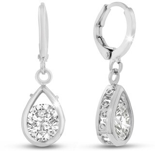 Adoriana Silver Pear Shape Drop Earrings