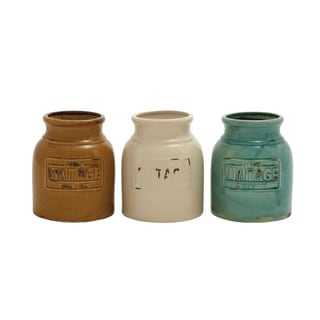 Ceramic Cutlery Jars (Set of 3)