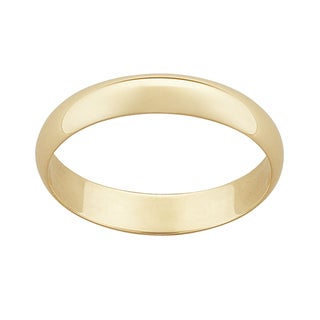 10k Yellow Gold 4mm Classic Wedding Ring