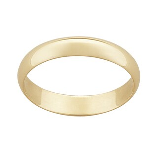 10k Yellow Gold 4mm Classic Wedding Ring (More options available)