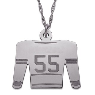 Sterling Silver Personalized Hockey Sweater Necklace