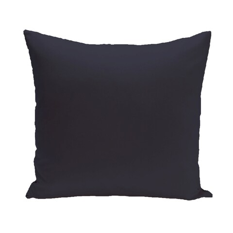 Decorative Outdoor Solid Print 20-inch Pillow