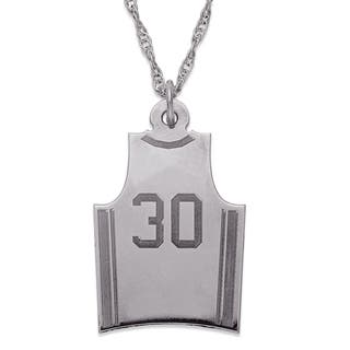 Sterling Silver Personalized Basketball Jersey Pendant Necklace|https://ak1.ostkcdn.com/images/products/10207326/P17330179.jpg?impolicy=medium