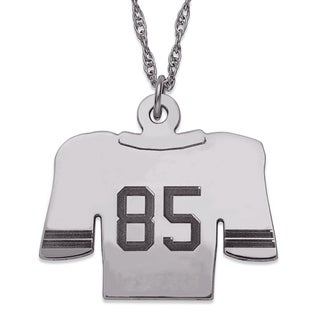 Sterling Silver Personalized Football Jersey Necklace
