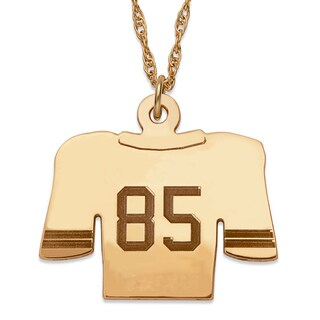 Goldplated Sterling Silver Personalized Football Jersey Necklace
