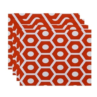 Geometric Honeycomb Print Table Top Placemat (Set of 4)