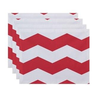 Geometric Chevron Print Table Top Placemat (Set of 4)
