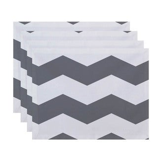 Geometric Chevron Print Table Top Placemat (Set of 4)
