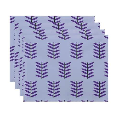 Floral Leaf Print Table Top Placemat (Set of 4)