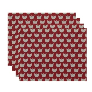 Floral Tulip Print Table Top Placemat (Set of 4)
