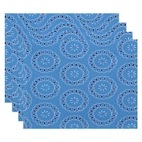 Floral Spiral Print Table Top Placemat (Set of 4)