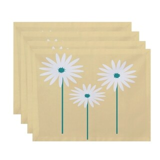 Floral Daisies Print Table Top Placemat (Set of 4)