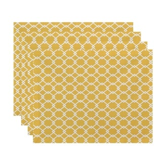 Geometric Trellis Table Top Placemat (Set of 4)