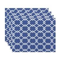 Large Geometric Trellis Print Table Top Placemat (Set of 4)
