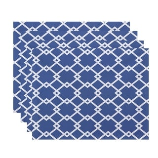 Large Geometric Trellis Print Table Top Placemat (Set of 4)