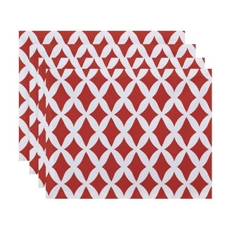 Geometric Lattice Print Table Top Placemat (Set of 4)