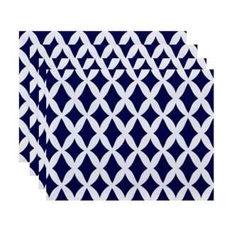 Geometric Lattice Print Table Top Placemat (Set of 4)