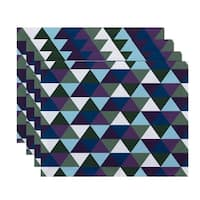 Geometric Triangular Print Table Top Placemat (Set of 4)