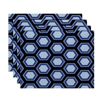 Geometric Honeycomb Table Top Placemat (Set of 4)