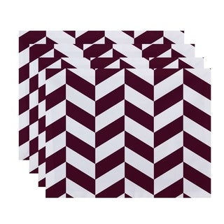 Geometric Mixed Stripes Print Table Top Placemat (Set of 4)
