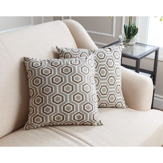 Abbyson Dylan Grey Throw Pillows (Set of 2)