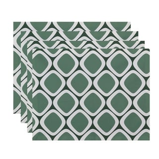 Abstract Diamond Geometric Table Top Placemat (Set of 4)