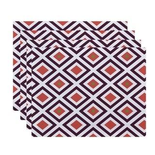 Geometric Diamond Print Table Top Placemat (Set of 4)