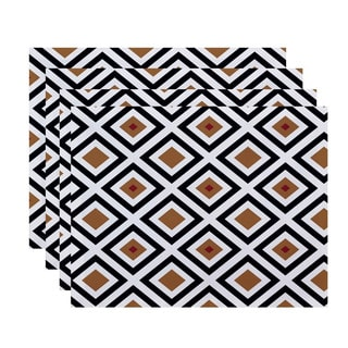 Geometric Diamond Print Table Top Placemat (Set of 4)
