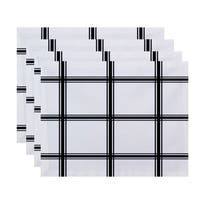 Geometric Simple Plaid Print Table Top Placemat (Set of 4)