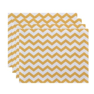 Chevron Geometric Print Table Top Placemat (Set of 4)