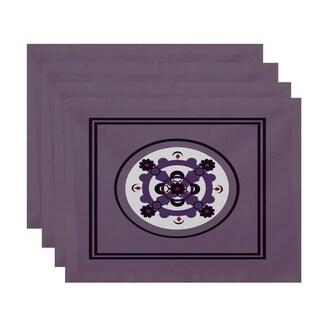 Floral Burst Geometric Table Top Placemat (Set of 4)