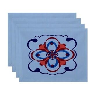 Geometric Floral Burst Print Table Top Placemat (Set of 4)