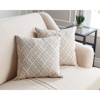 ABBYSON LIVING Teddi Pillow Collection 18-inch Grey Pattern Throw Pillows (Set of 2)