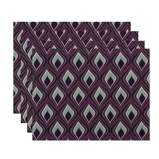 Abstract Diamond Geometric Print Table Top Placemat (Set of 4)