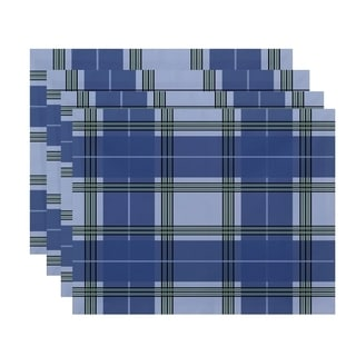 Geometric Plaid Print Table Top Placemat (Set of 4)